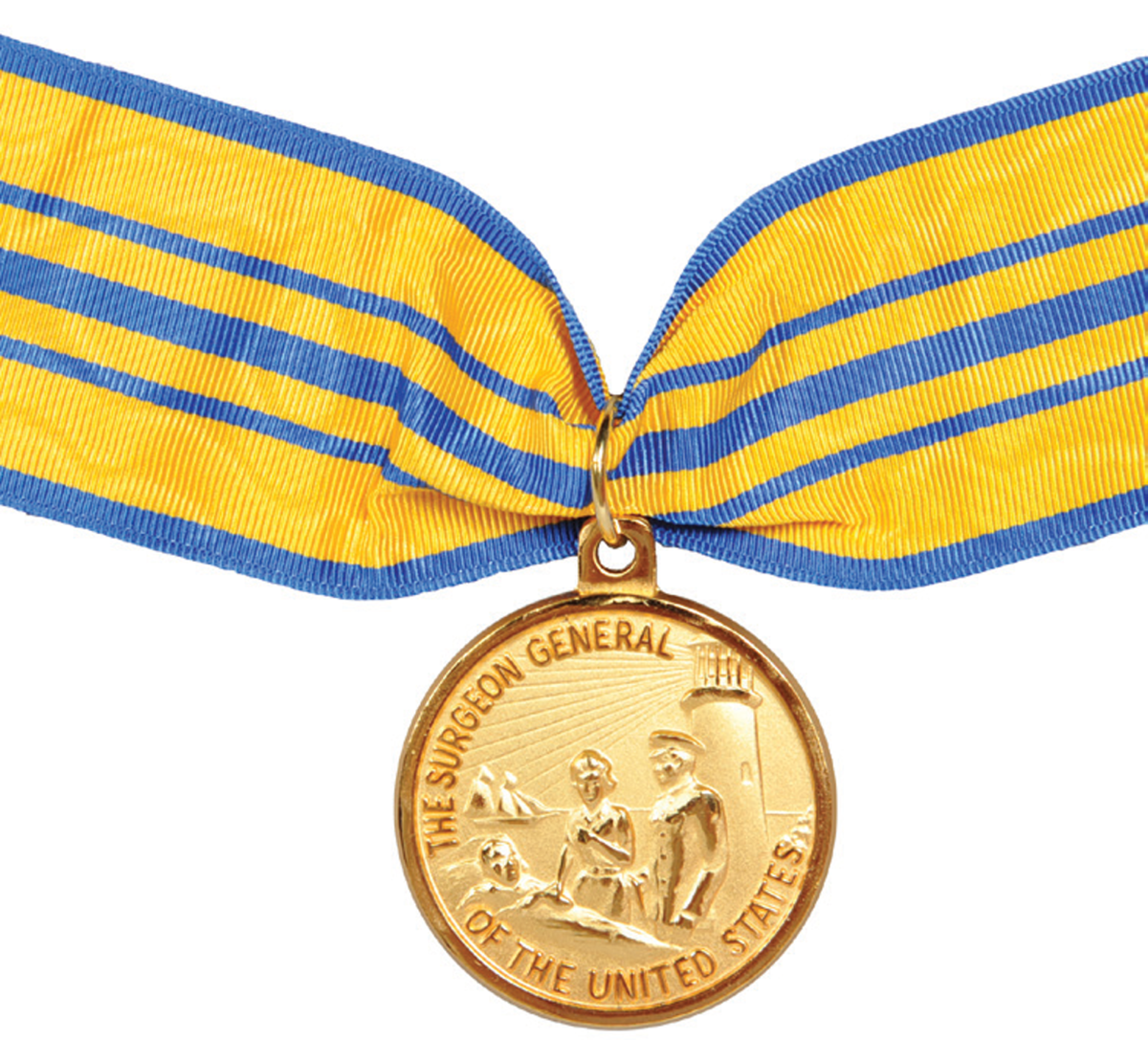 The Surgeon General's Medallion is usually reserved for civilian recipients. Impressive in size and finish, the reverse is blank.