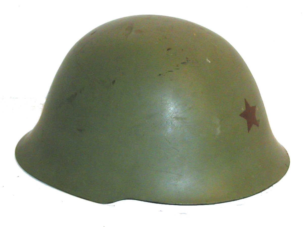 Designed by Tito's partisan forces during World War II the Yugoslavian NE-44 helmet was first produced in 1952. It is typically found with the five-pointed red star on the front and remained in service through the Yugoslavian Civil Wars of the 1990s.