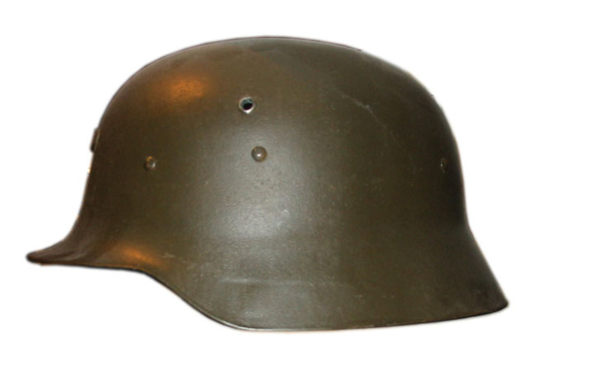 "Spanish M-42 or ""Modelo Z."" While closely resembling the German M-35 this helmet model was produced in Spain and not on ""German equipment"" as many sellers often suggest."