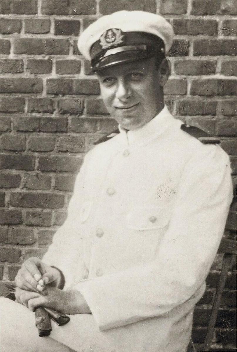 Radio Operator Robert Coninx, Belgian Merchant Navy, ca. 1940