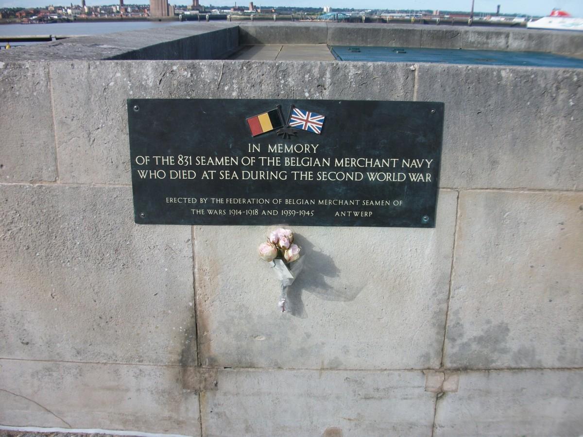 Belgian Merchant Navy Memorial in Liverpool, England.