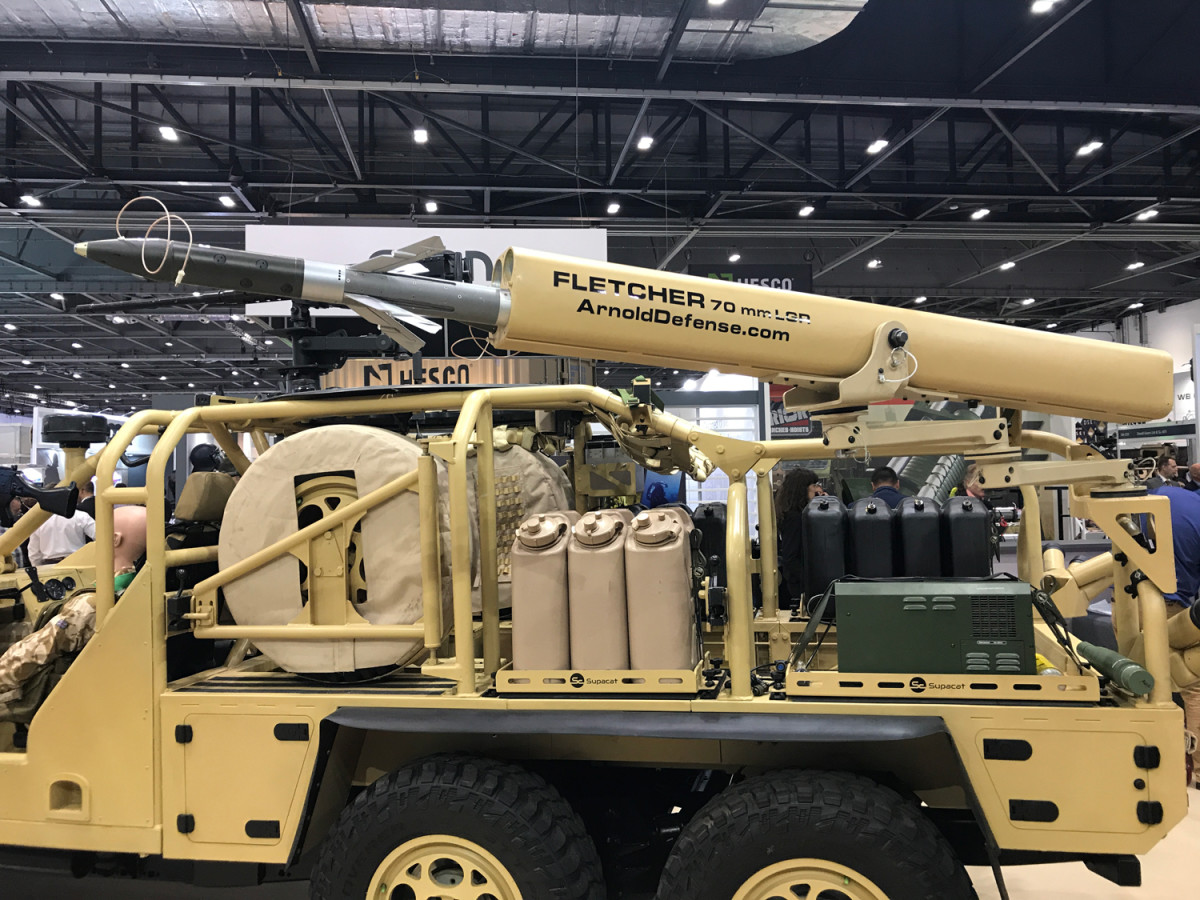 """The """"FLETCHER"""" 2.75-inch/70mm Weapon System can be mounted on land-based military vehicles as well as, potentially, marine and littoral platforms."""