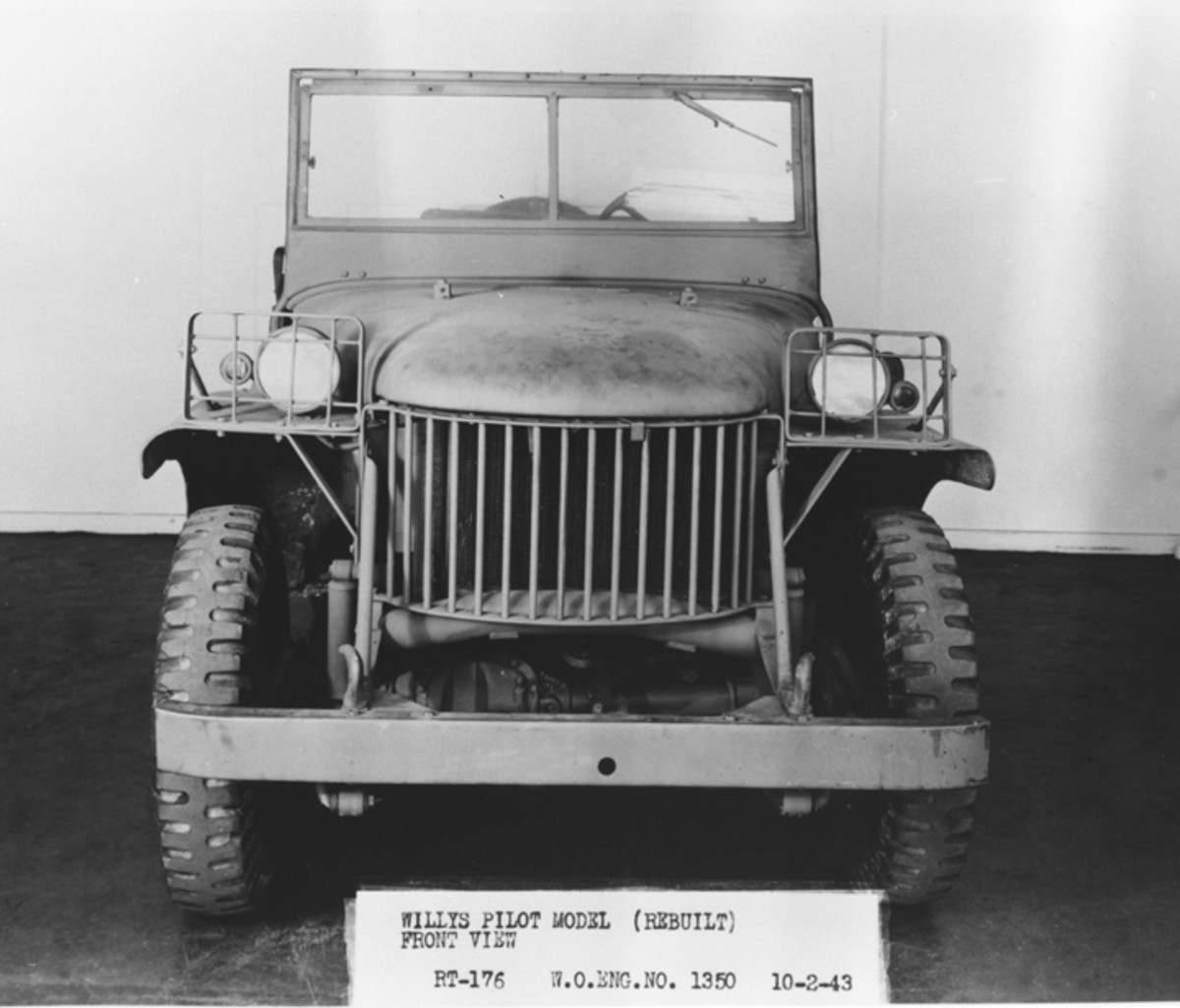 """The Quad was ultimately rebuilt into the form seen here. Notice the absence of the distinctive stamped """"Jeep"""" grille — a feature that was developed by Ford Motor Company."""
