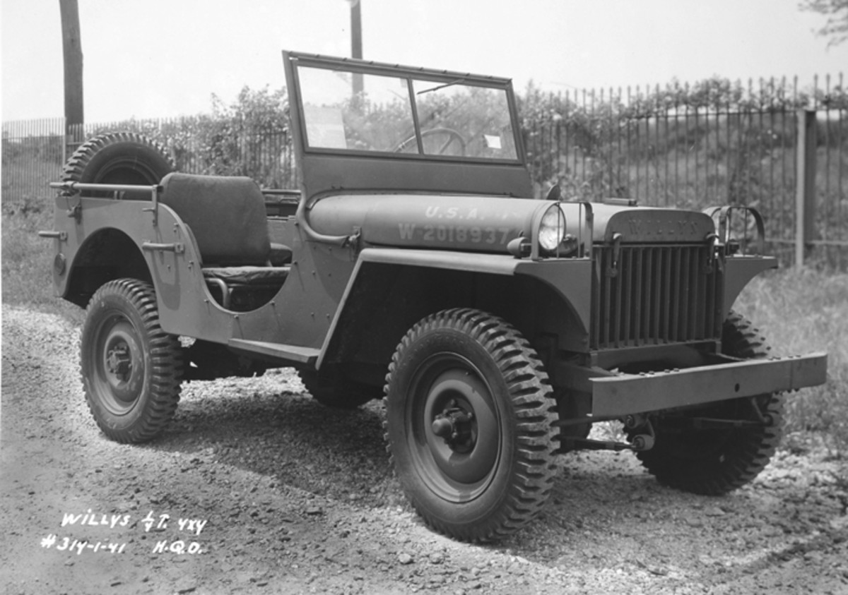"""Engineers at Willys revamped their quarter-ton offering to fill their contract for 1,500 field trial vehicles. The result was the """"Model MA"""" (shown here). The Willys """"Go-Devil"""" engine powering this vehicle would ultimately play a large part in tilting the scales in favor of the Toledo firm as the primary supplier of vehicles of this class during WWII."""