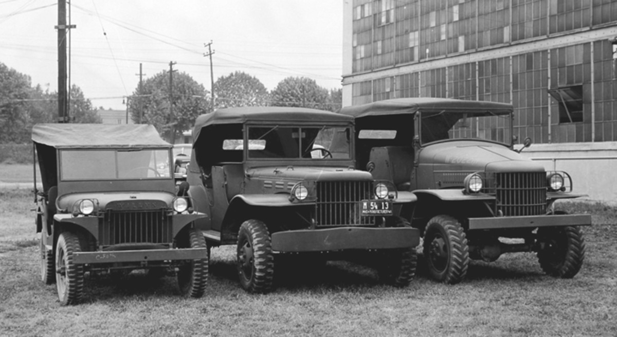 This MA (in the company of half and three-quarter ton Dodge command cars) was photographed at Fort Holabird in 1941.