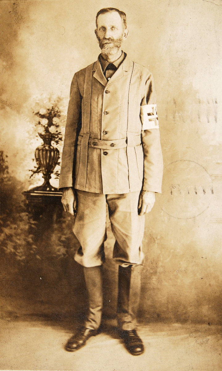 "This real photo postcard was sent from El Paso, Texas, on June 5, 1911. It reads, ""This is my Insurrecto uniform.' It was signed, F.C. Freeman and sent to his son in Chattanooga, Tennessee."