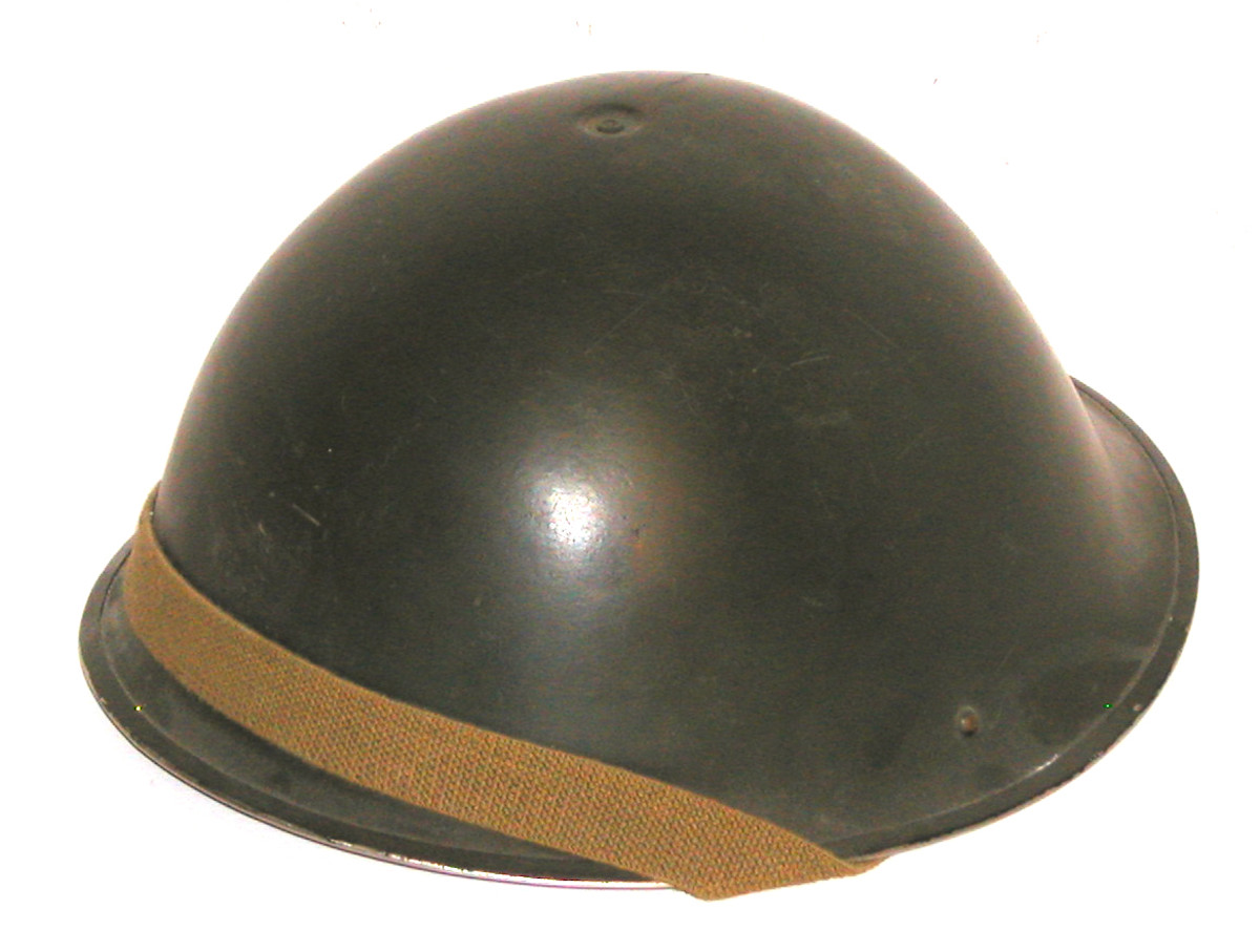 """The so-called """"Turtle Shell"""" MK IV was introduced in 1944. This pattern of helmet design would stay in service until the 1980s."""