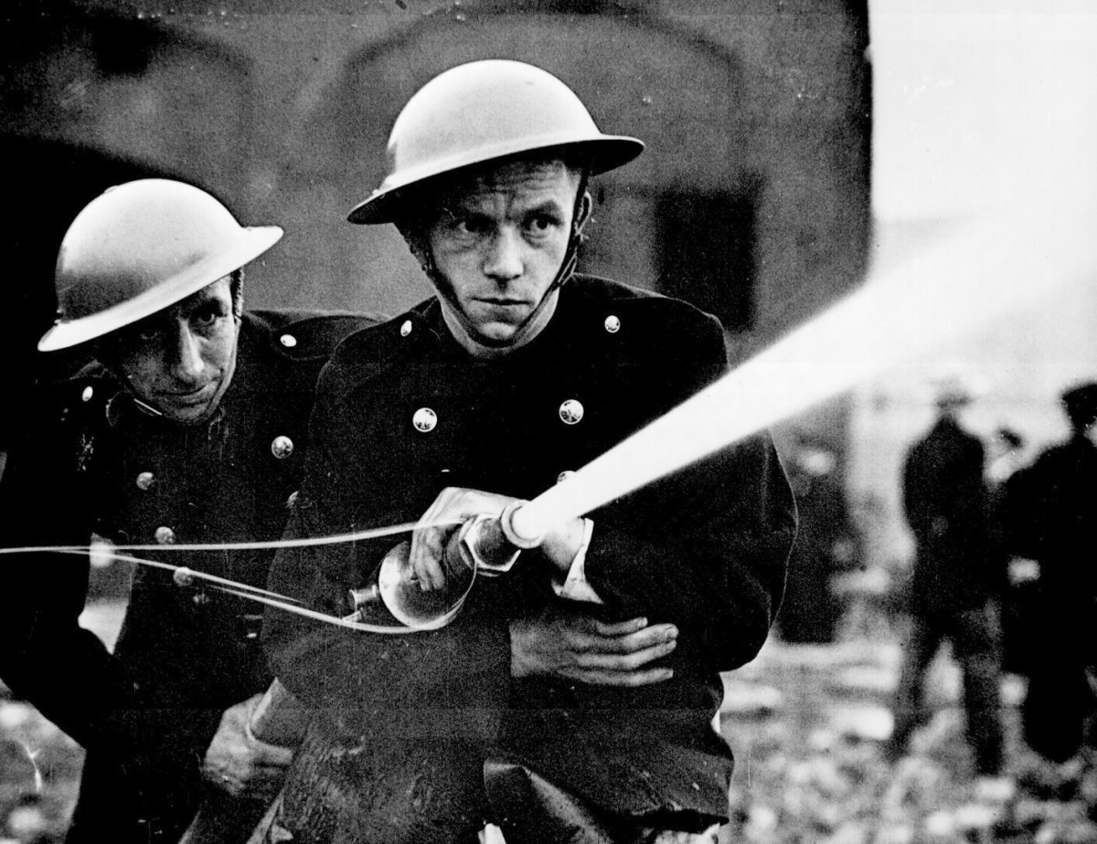 Battle of Britain firefighters. It was just as apparent that the MkII was ill-suited for this faster style of war. Ironically, the helmet did serve well during the air raids. But on the front lines, a new helmet was needed.