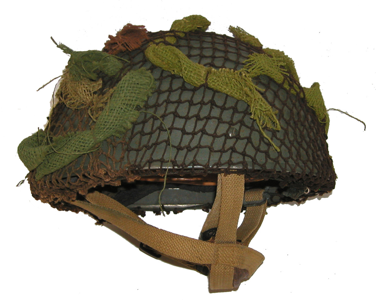"""The helmet worn by the infamous """"Red Devils"""" and other paratrooper regiments of the British Army during the Second World War, and into the post-war years."""