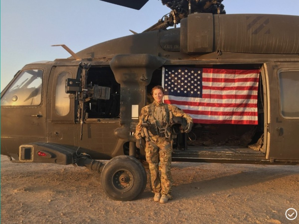 Originally from Kosovo, Val spent time in German refugee camps before working as a military contractor for the U.S., where she realized her passion for military service.