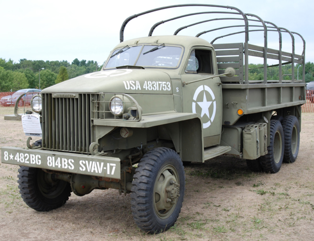 US6 cargo truck with Studebaker nameplate on grille.