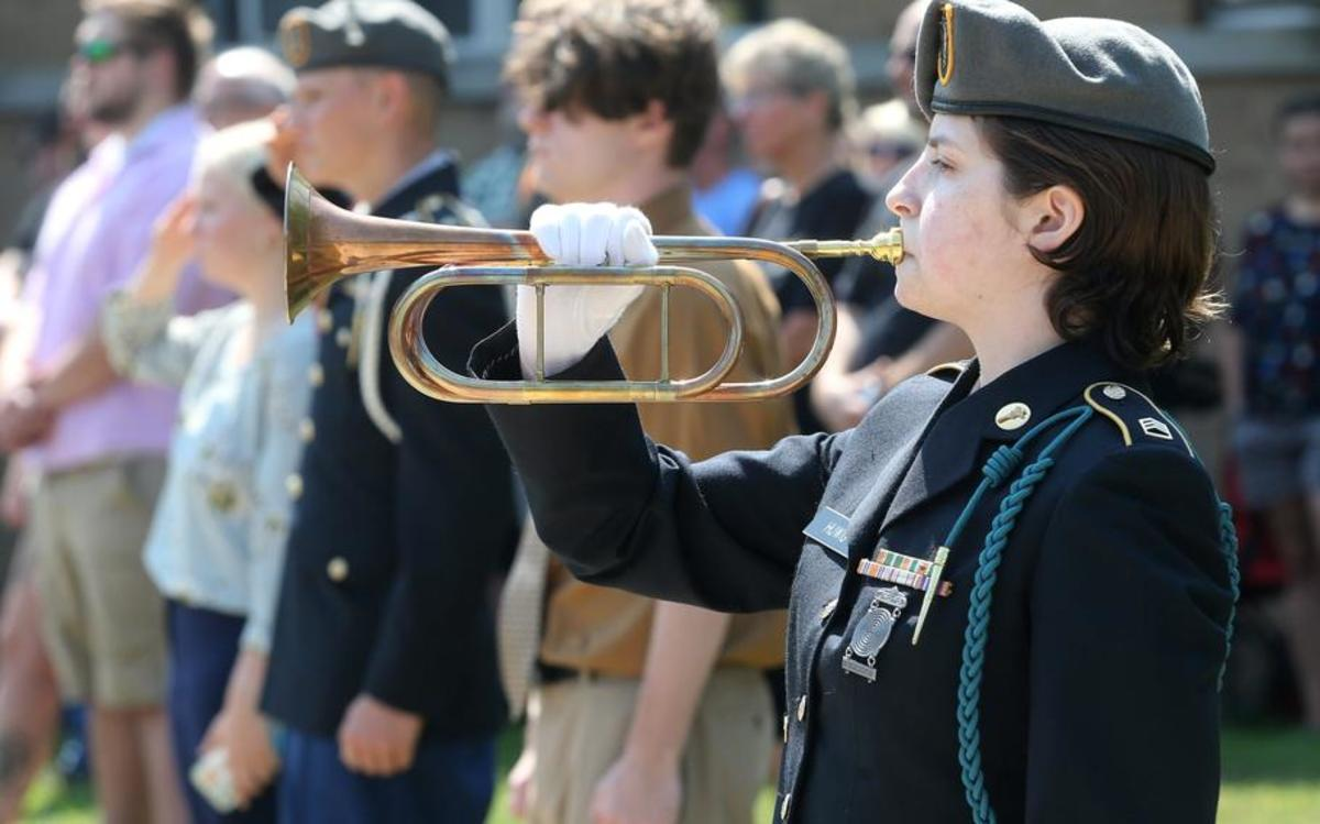 In addition, she plays trumpet and participates in JROTC with the rank of Staff Sergeant. Recently, Deven had the honor of playing Taps at the memorial service of a fallen graduate.