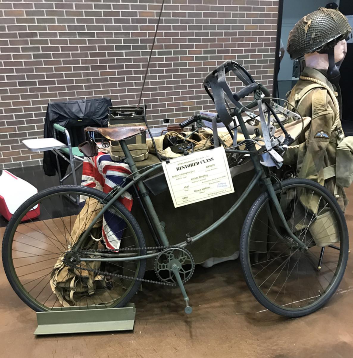 Bruce Haffner, 1943 BSA British Folding Bicycle