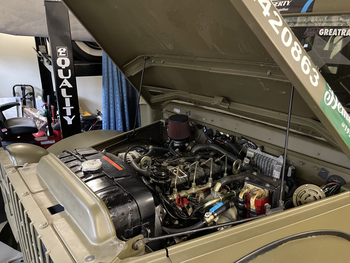 """A lot of prep went into making the 1952 weapons carrier """"race-ready"""" including swapping out the Dodge powerplant in favor of an R2.8 Cummins Clean Diesel. That, together with gearing brought down to 4:65 provided about 18-20 miles per gallon."""
