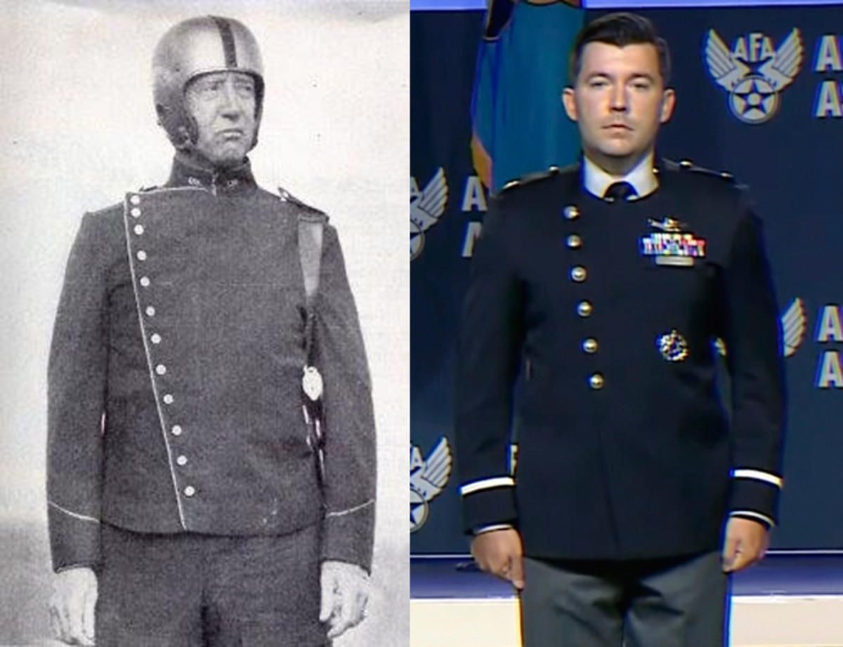 Coincidence? Both Patton and the USSF desired a distinctive uniform that would impart practicality and unique identity.