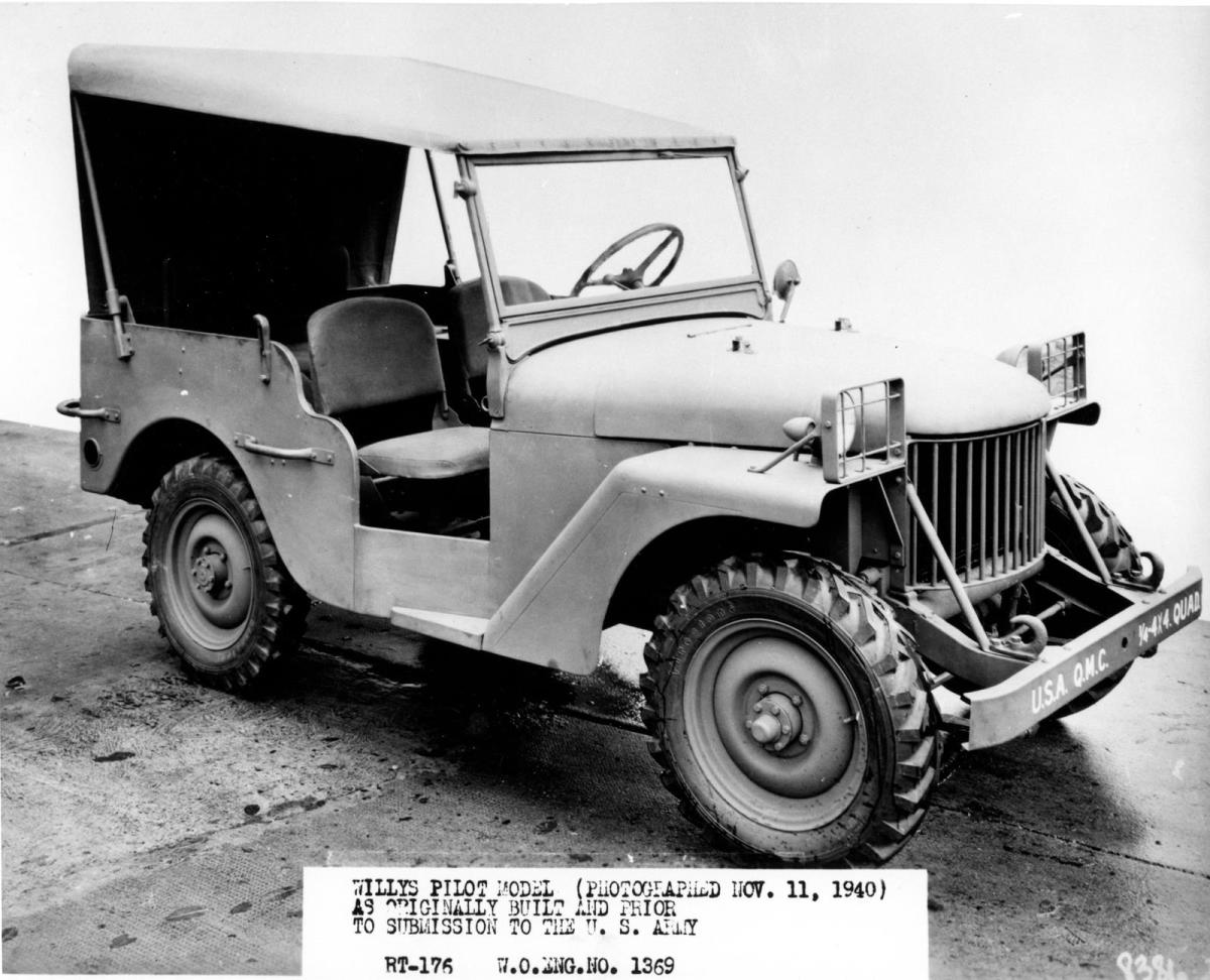 """This could be considered the vehicle that started it all: The Willys """"Quad"""" pilot model, photographed Nov 11 1940"""