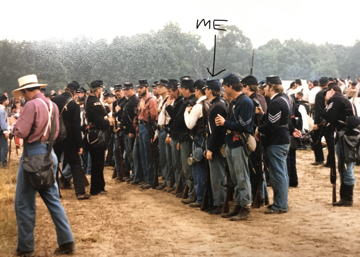 Row of reenactors at the 135th Anniversary of the First Battle of Bull Run