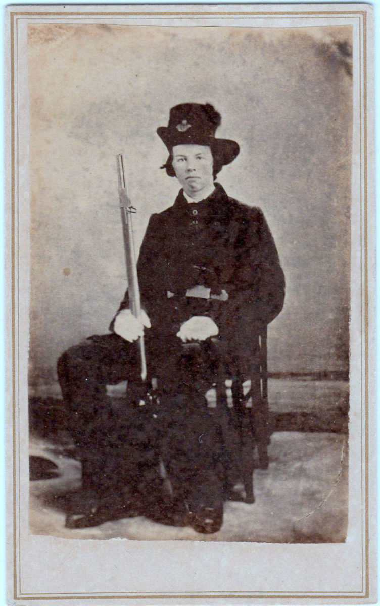 Photographed in Mobile, this carte de visite Image shows a a 15-year old Alabaman holding a Model 1841 rifle. The image is dated January 3, 1861.