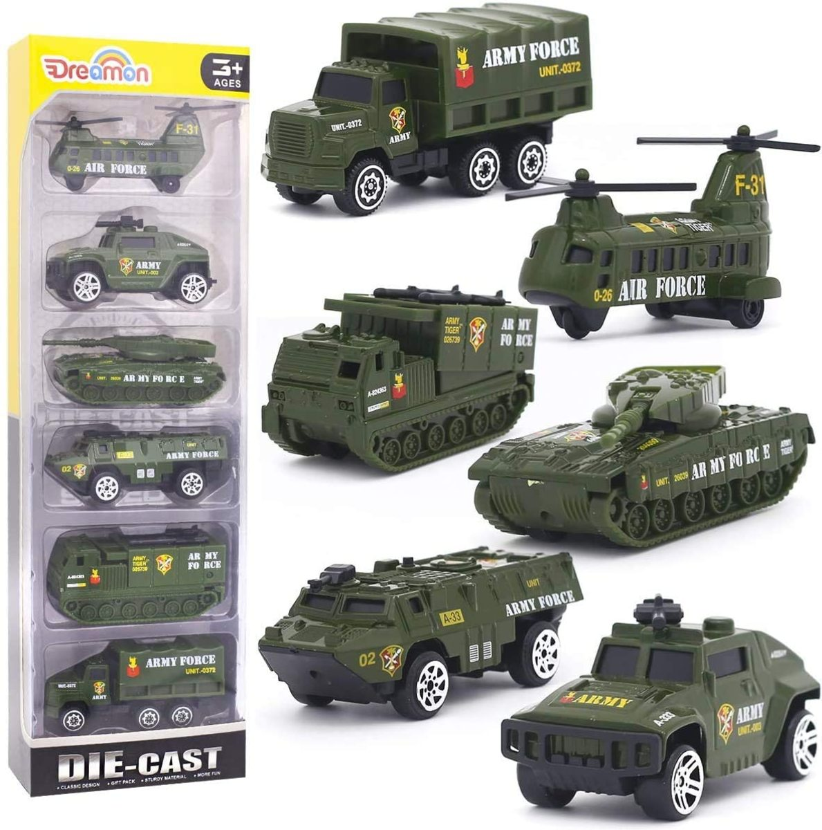 6-pack of roughly 1/64-scale vehicles for $14.99