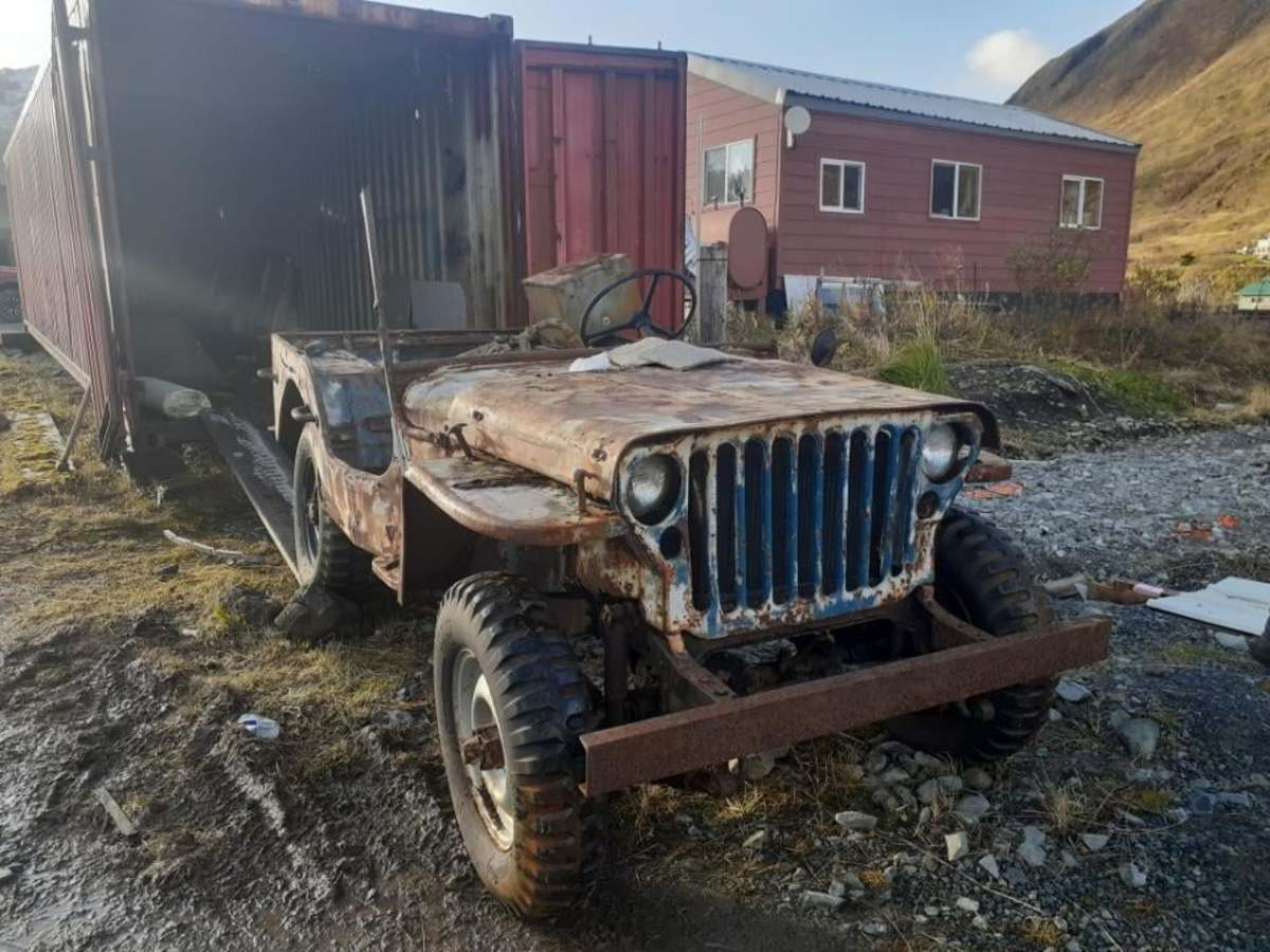 1943 GPW rolled out of storage container in Alaska