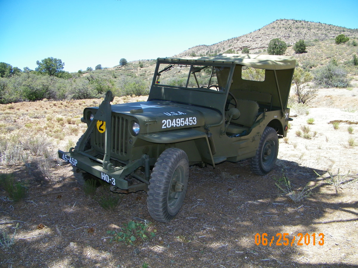 Alan Christenson's '42 GPW. Photo taken in my back yard in Chino Valley, Arizona. The jeep was rescued from a farmer's field in California. The restoration took about two years. Alan drives it weekly and enjoys participating in local parades.