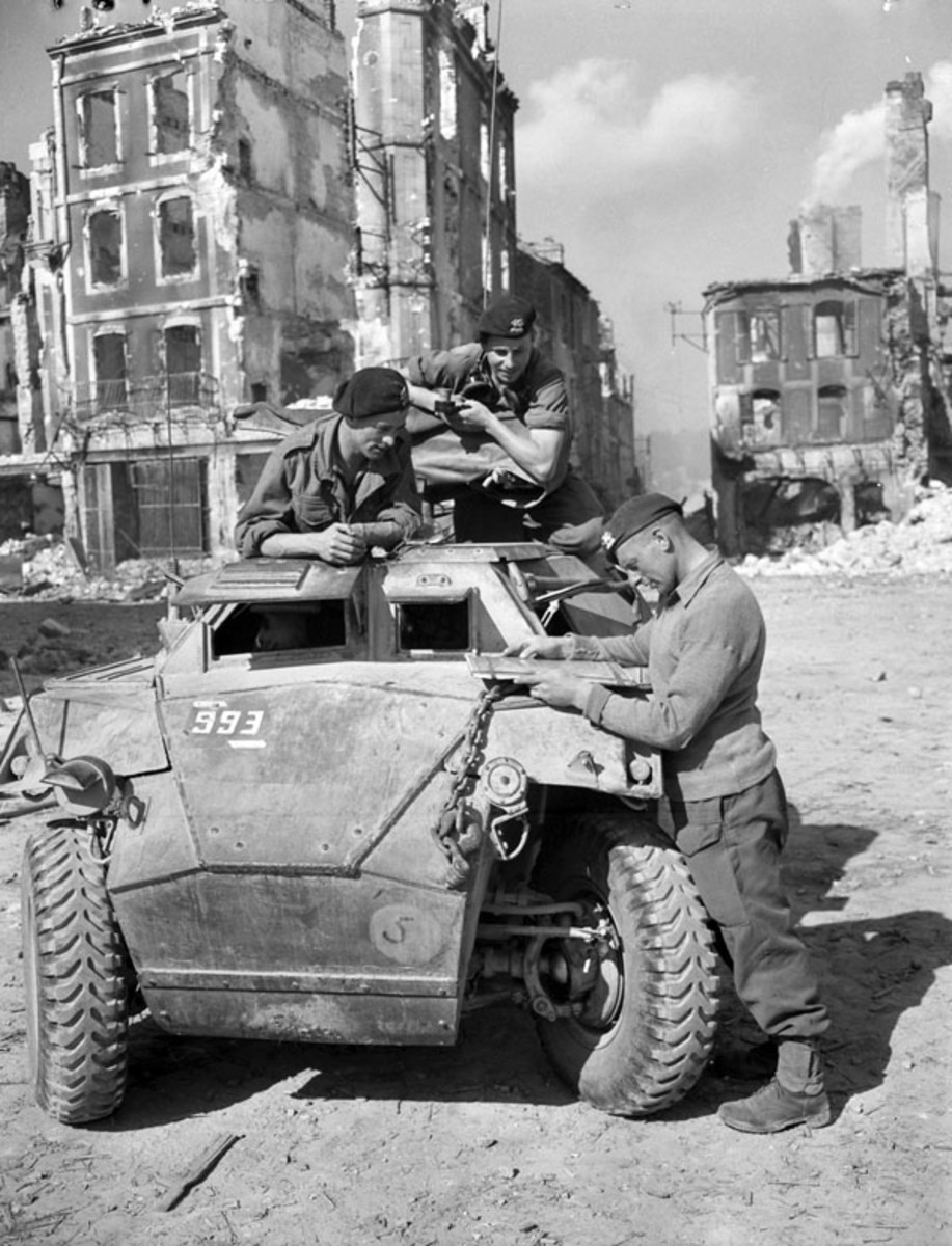 Humber Scout Car in Falaise, France, 1944