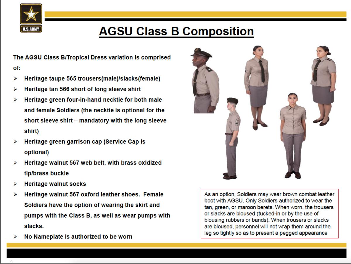 Class B uniform compostion