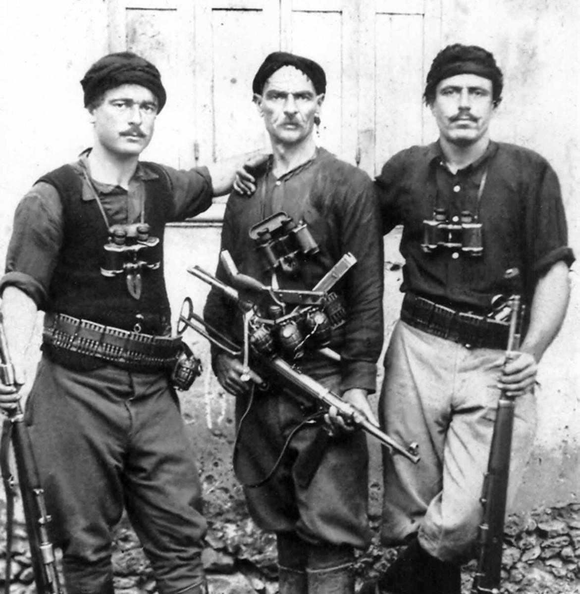 Greek partisans on Crete, 1941