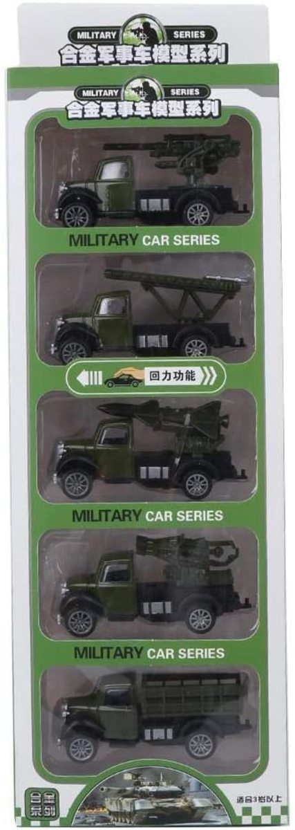 5-pack of roughly 1/64-scale vehicles for $14.99