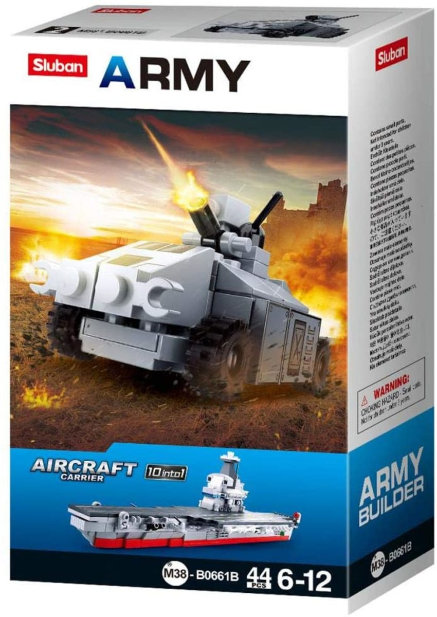 Sluban blocks give you the chance to build a variety of military vehicles for $9.75