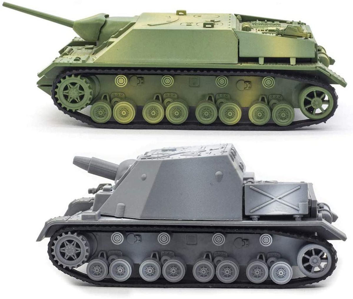 """Not really models, these are plastic """"puzzles."""" They build up well and are pretty good in 1/72."""
