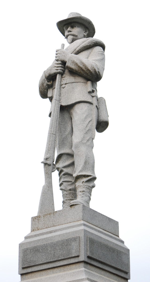 The Confederate Monument in Bentonville, Arkansas was removed in September 2020.