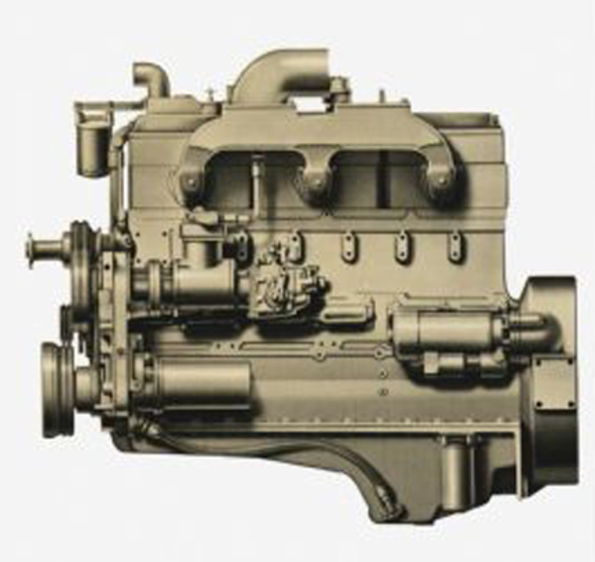 Cummins NHC 250 855 cu in (14.0 L) naturally aspirated inline 6 cylinder diesel engine.