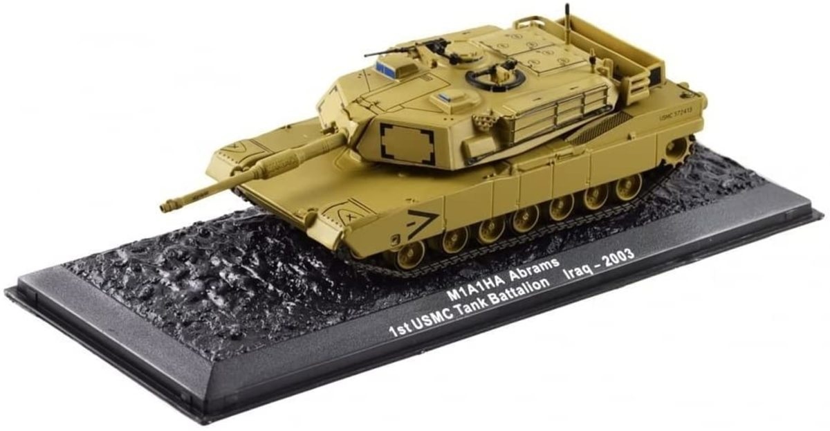 The iconic M1A1 Abrams in 1/72 scale for $14.99