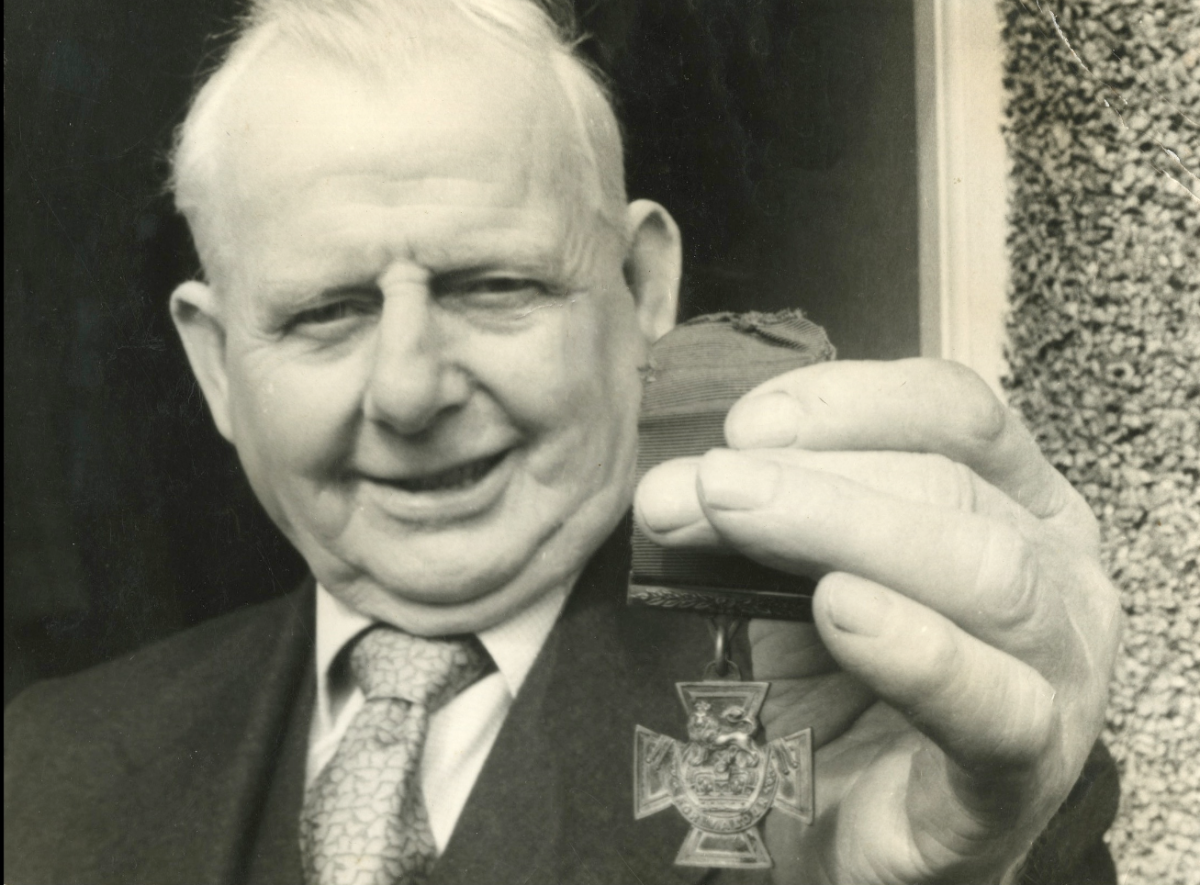 Towers, in later years, showing his Victoria Cross.