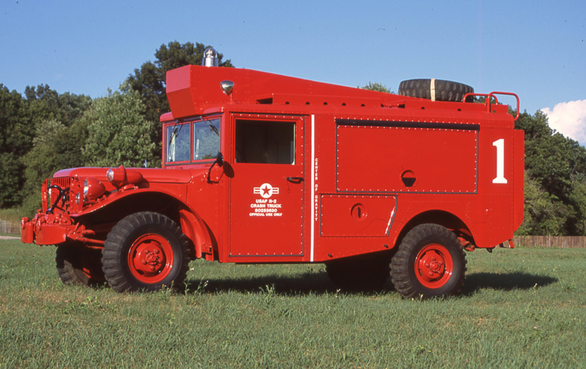 The scarcity, as well as nobility of purpose, of the R-2 vehicles certainly makes them worthy preservation and restoration candidates. This beautiful 1953 R-2 Crash Truck belongs to Mike Feathers.