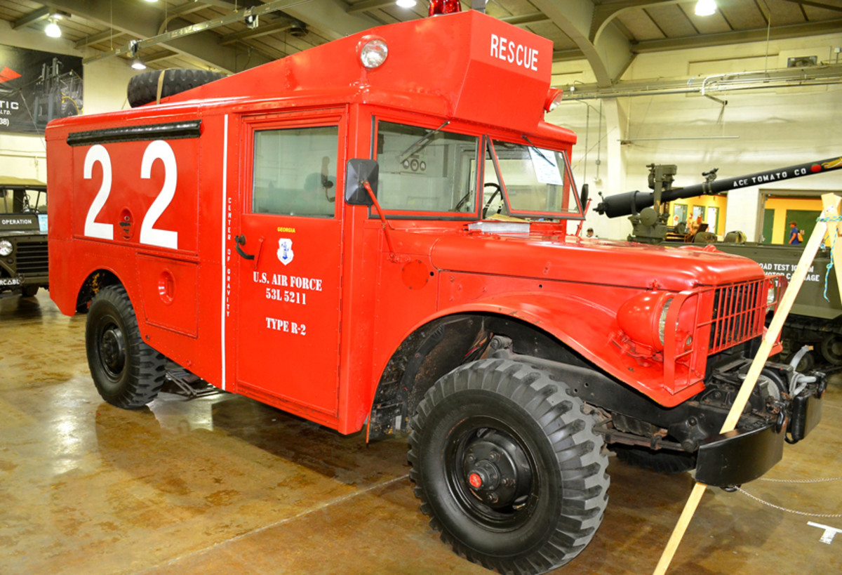Matthew Dunn's 1953 R-2 Rescue Truck displayed at the 2019 MVPA Convention.