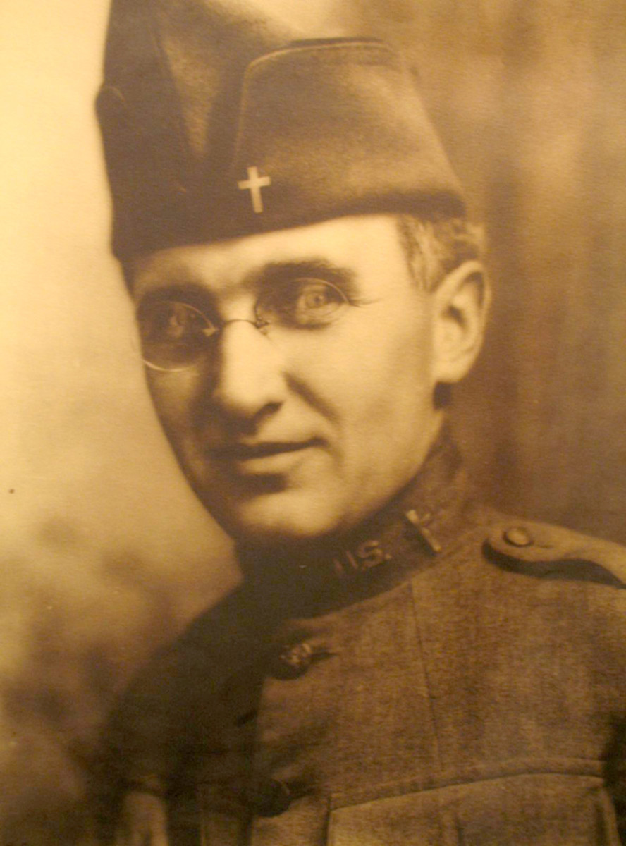 A U.S. Signal Corps portrait of Chaplain Arthur A. LeMay that shows him in the uniform featured in this article