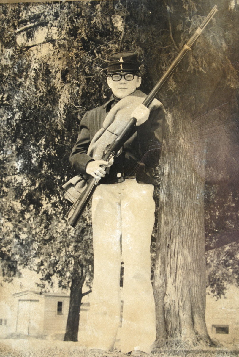 Again, that's me at about age 12. The 'Zouave' rifle was about as tall as me!