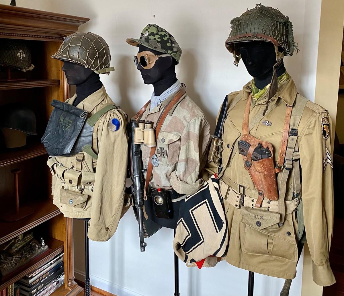 Mark Cassidy's trio of WWII torsos.