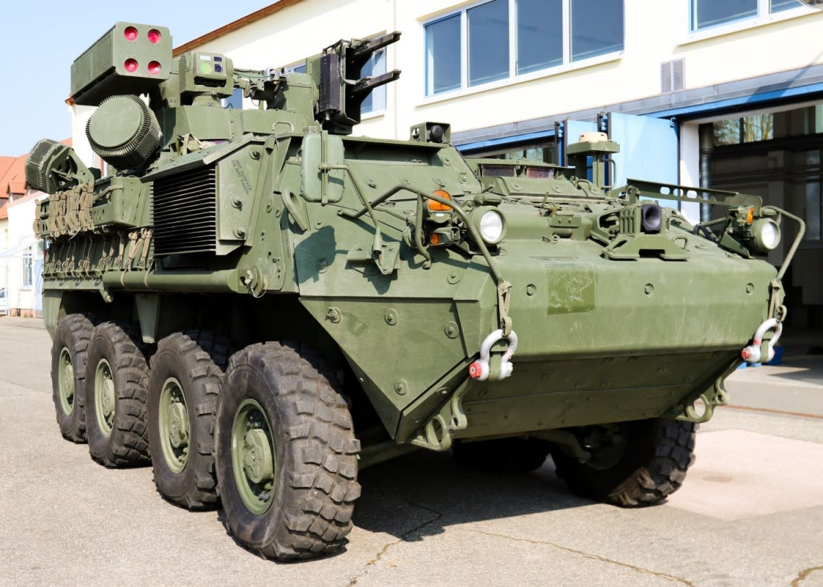 The Mobile Short Range Air Defense (M-SHORAD) system integrates existing guns, missiles, rockets and sensors onto a Stryker A1 vehicle. The system is designed to defend maneuvering forces against unmanned aircraft systems, rotary-wing and residual fixed-wing threats.