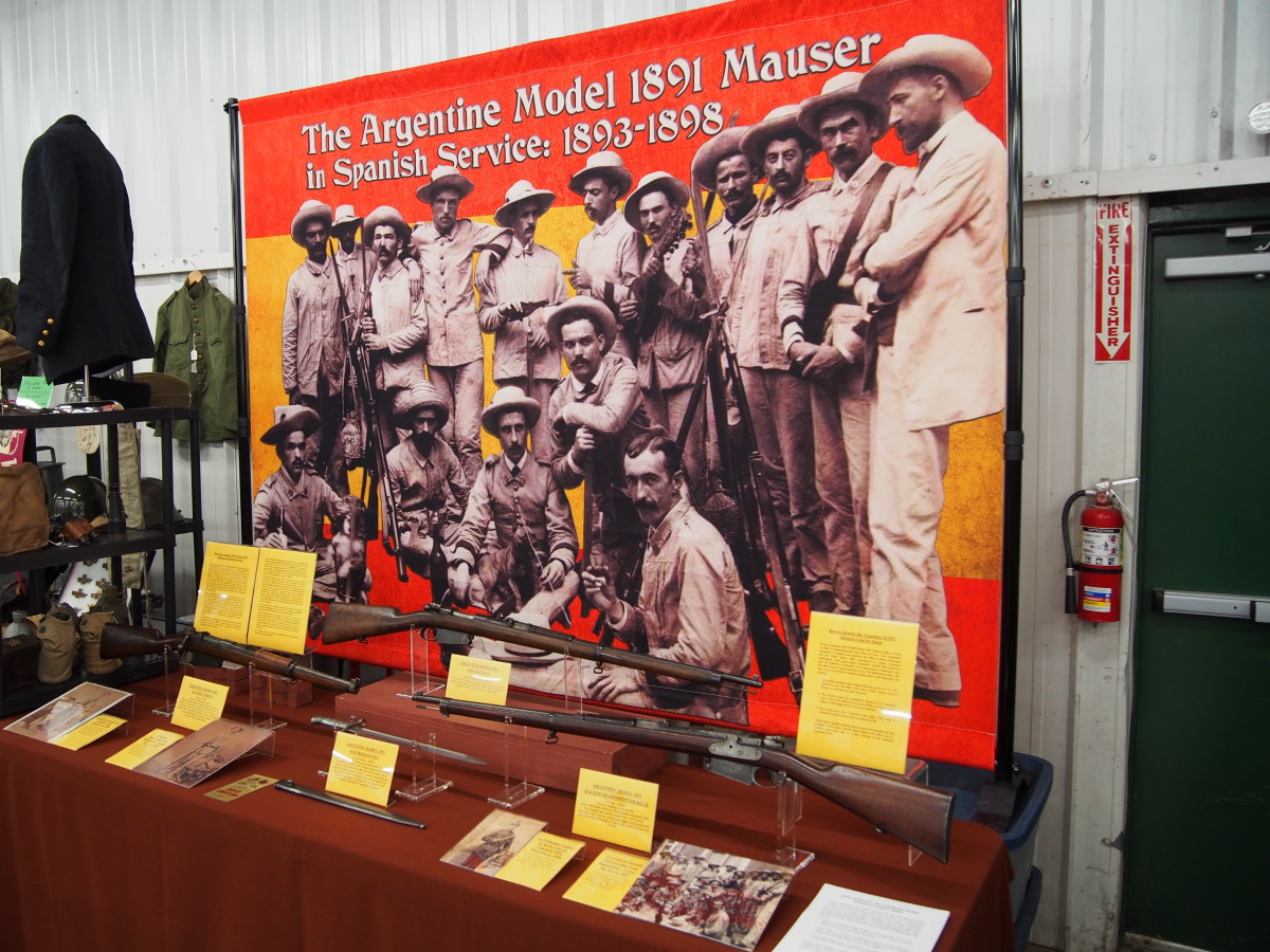 Kudos to Bill Combs of AGM Ohio and business manager of OVMS for putting on a truly impressive display — this year was on the Argentine Model 1981 Mauser rifles that were used by Spain.