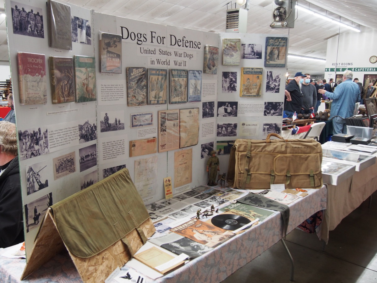 The Ohio Civil War Show always has some impressive displays, such as this one that honored the United States War Dogs of the Second World War.