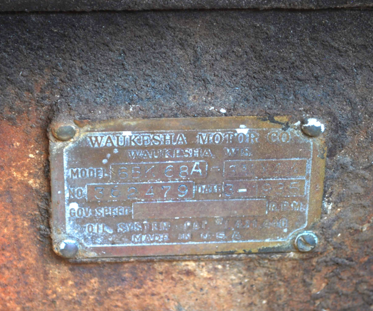 The engine data plate on the firewall states the power plant was built in March 1935.
