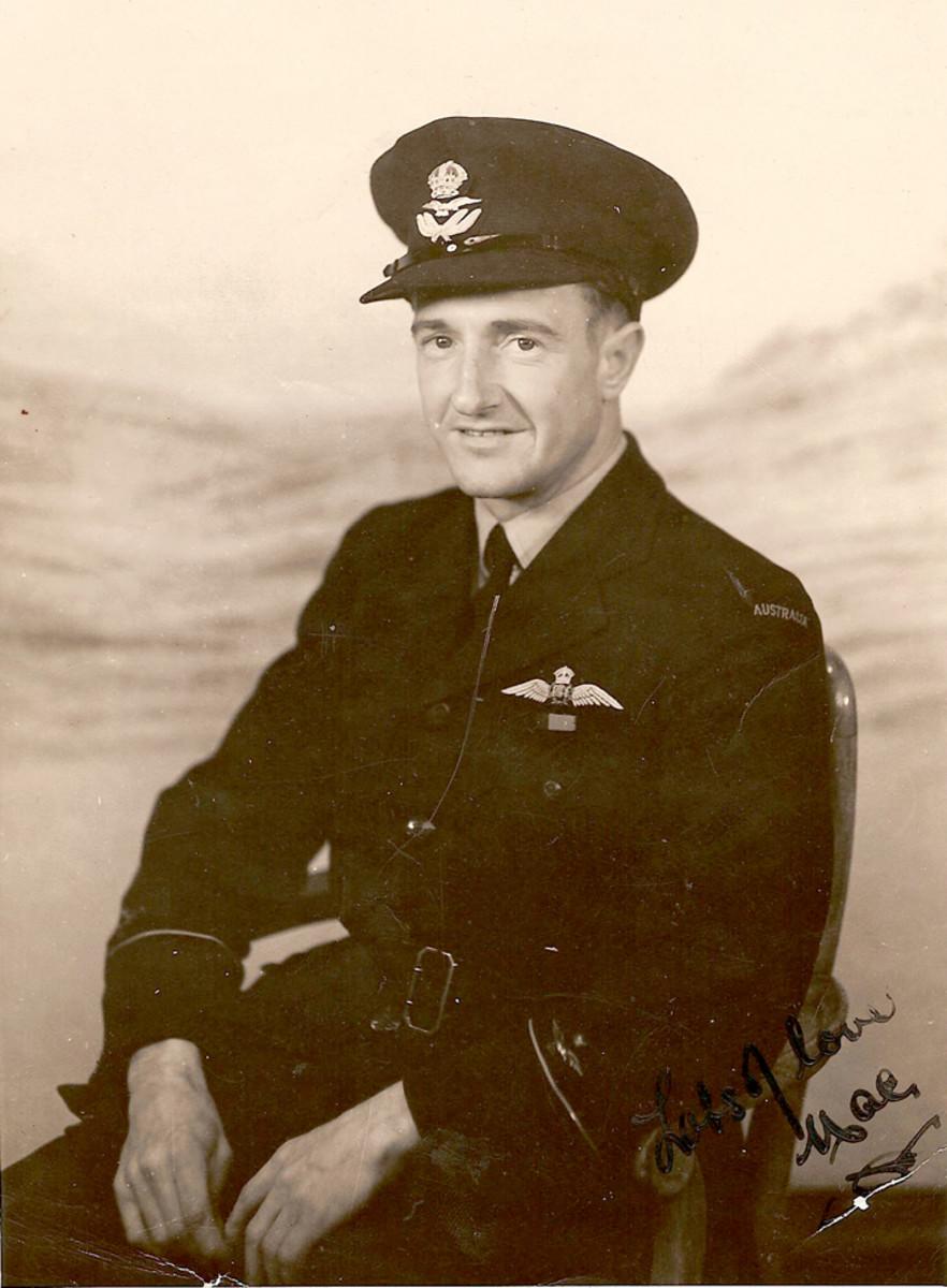 "Walter ""Mac"" McBean. Taken in London in December 1944, Mac signed it in the lower right-hand corner."