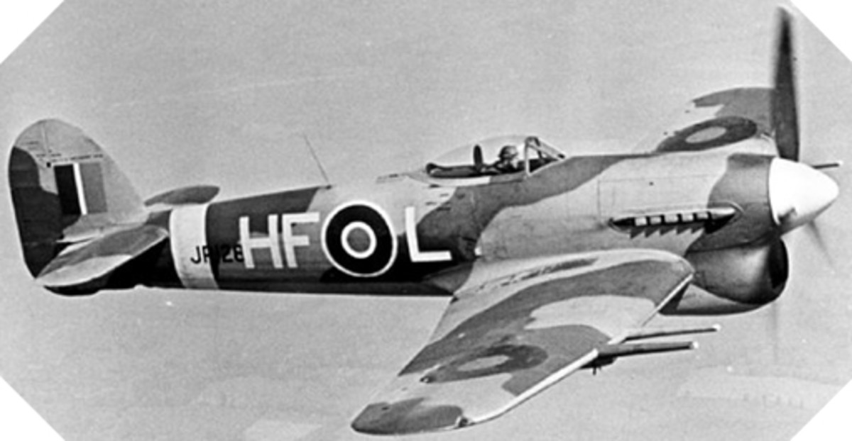 The Typhoon is an excellent fighter, and its formidable guns of 20 mm leave no chance to their opponents. 26 squadrons of Hawker Typhoon were deployed during the June 6, 1944 attack in Normandy.