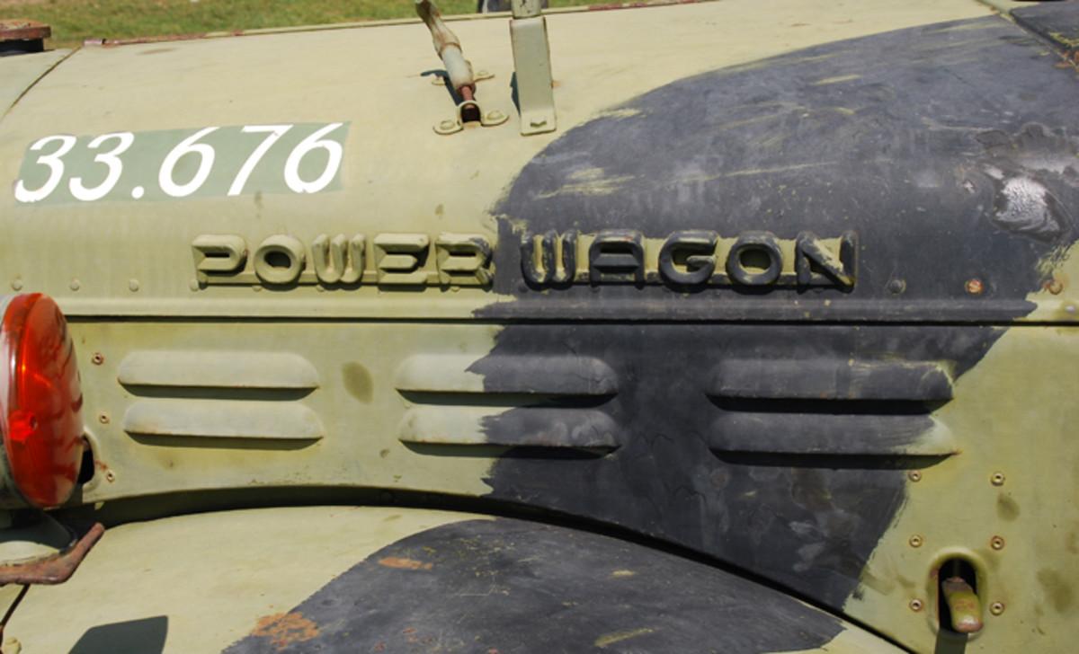 Power Wagon logo on side of the hood.