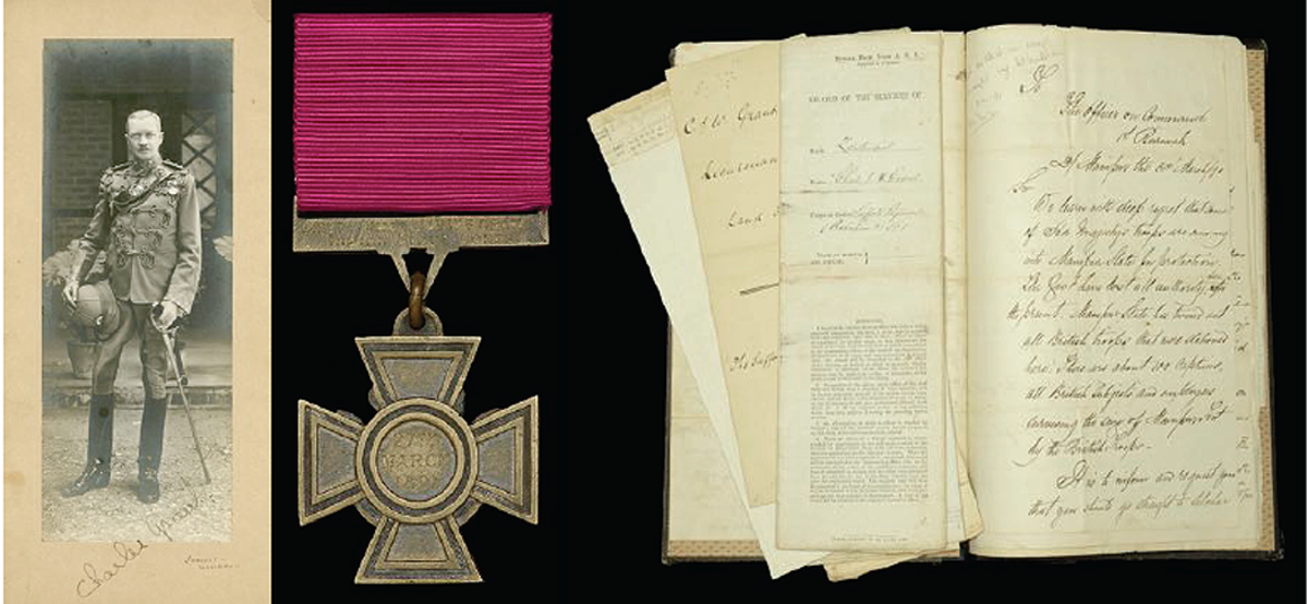 Charles James William Grant was the 406th recipient. This Victoria Cross.