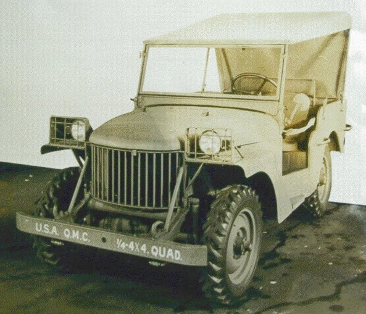 """Willys prototype that it delivered to the Army in 1940 was known as the """"Quad."""""""