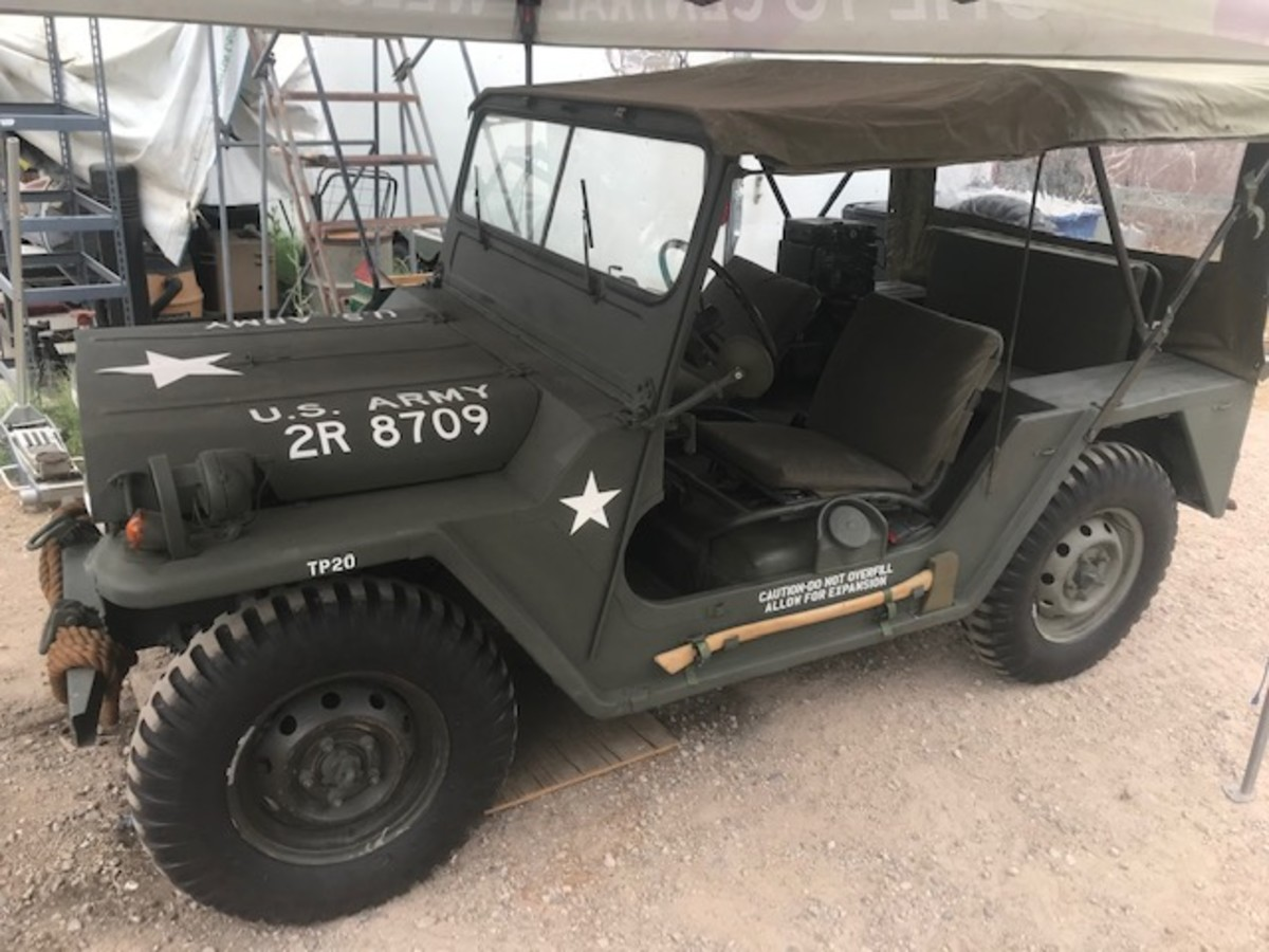 Rod Shaver'sFord M151A1 Jeep, delivery date of 4-1968.
